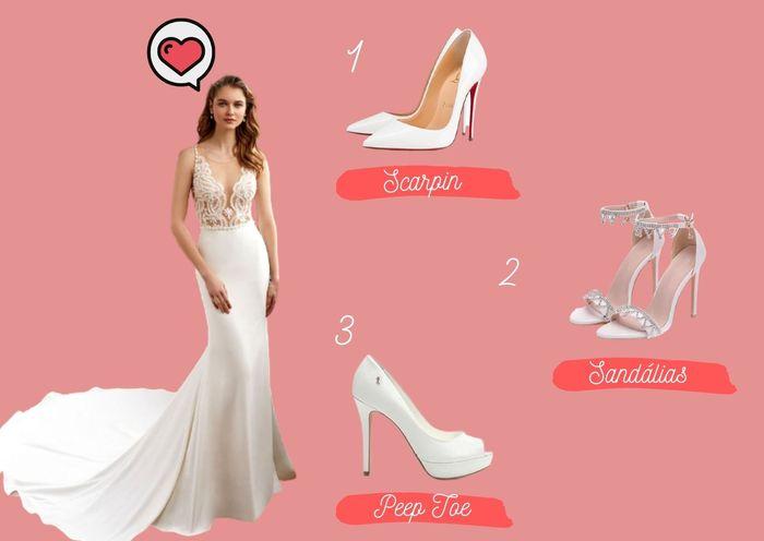 Qual o melhor sapato para este look? 1