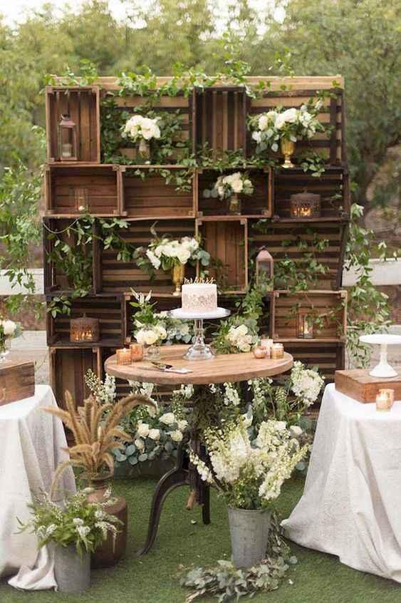 Decoração de casamento com caixotes: seis ideias lindas e rústicas! - 6