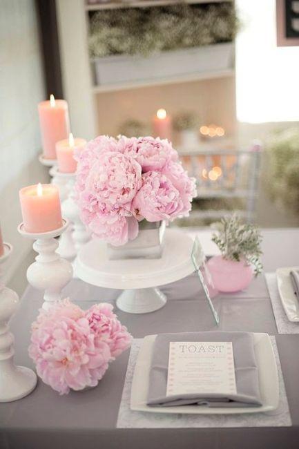 Decora o rosa e cinza - Hochzeitsdeko altrosa ...