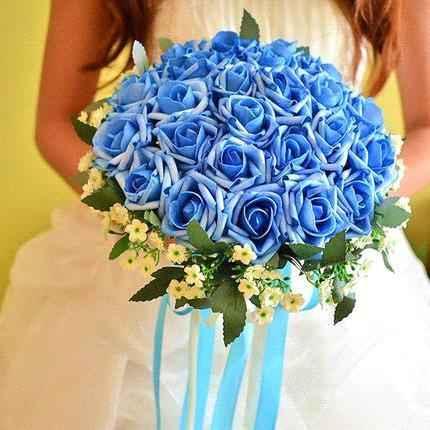 Buquês de noiva azuis! #novembroazul - 1