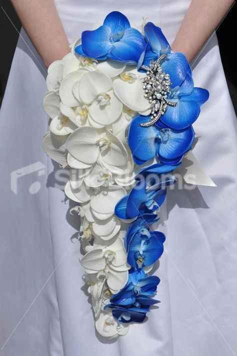 Buquês de noiva azuis! #novembroazul - 3