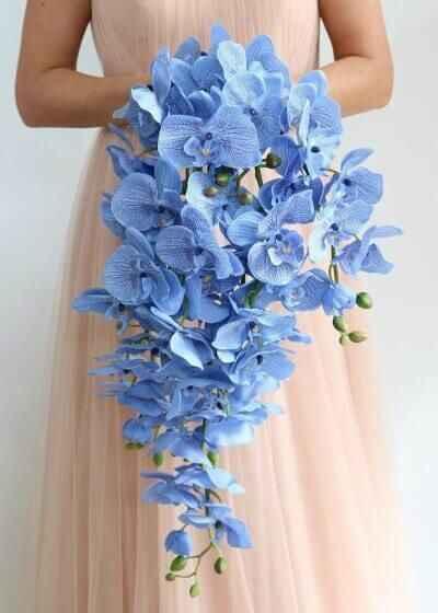 Buquês de noiva azuis! #novembroazul - 4