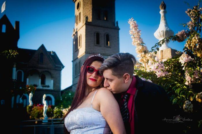 Pré-weddings na comu - Foto de beijo 4