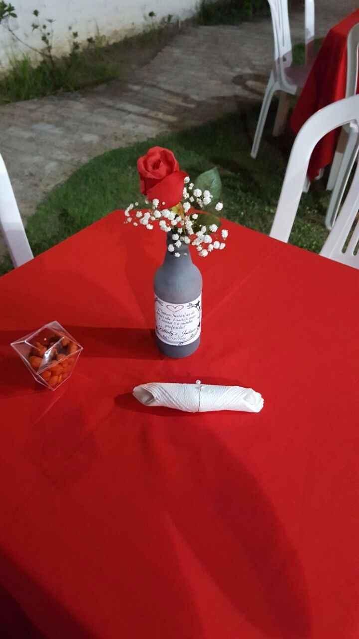 decoração mesa dos convidados dye