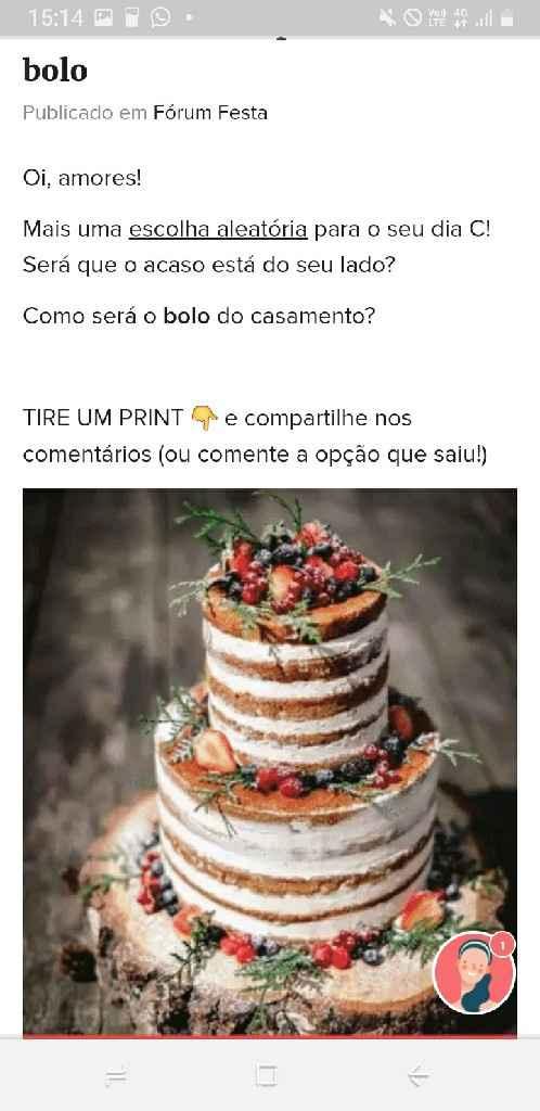 TIRE UM PRINT para decidir o bolo - 1
