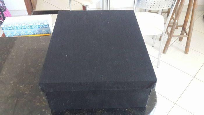 caixinha de tecido preto