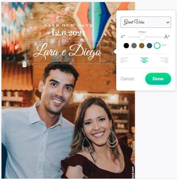 Site para customização de convites. Dica! 5