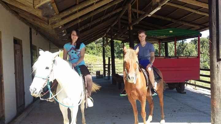 Como em todo hotel fazenda, não pode faltar o passeio a cavalo