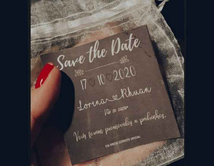 Save the date padrinhos - 1