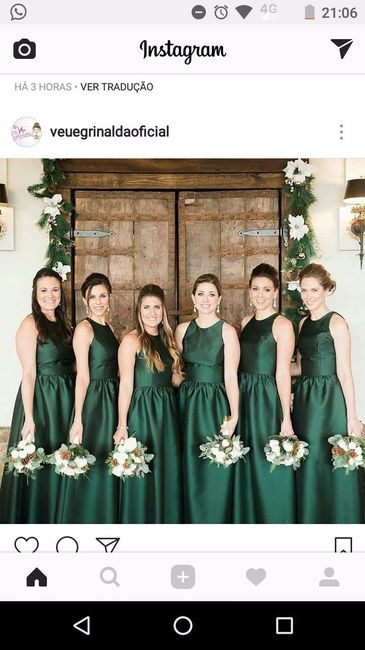 Vestido para madrinha de casamento verde musgo