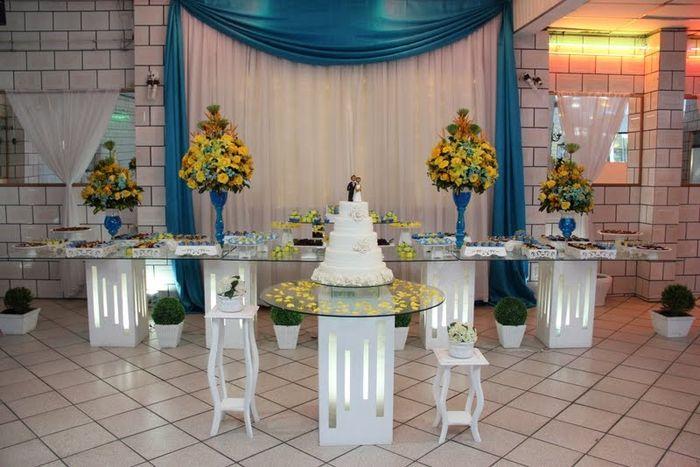 decoracao para noivado azul e amarelo:AZUL E AMARELO – Fotos casamentos.com.br