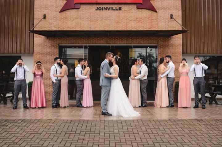 Com qual casamento das novas noivas destacadas o seu mais se parece: Padrinhos - 1