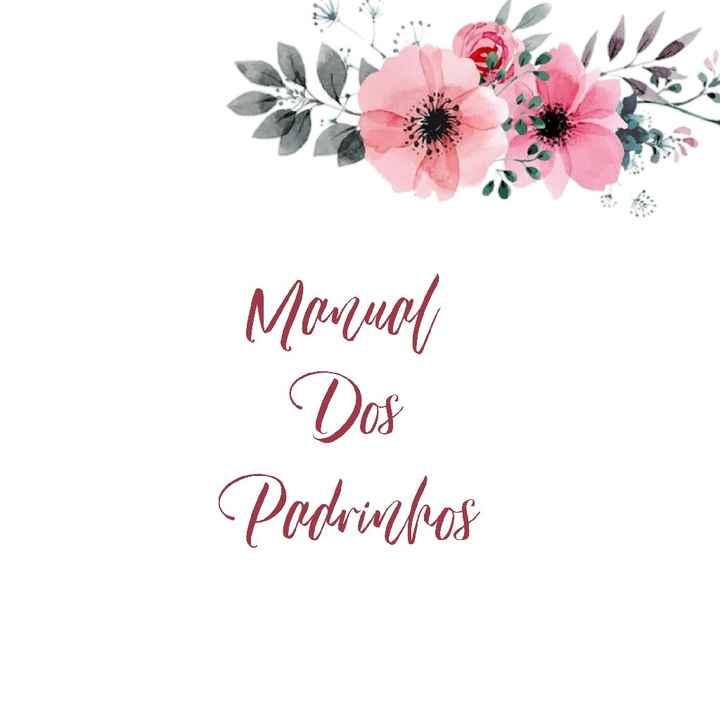Diy: manual dos padrinhos - 1