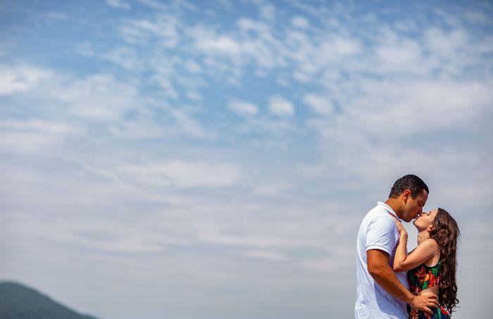 Pré-weddings na comu - Foto de beijo 13
