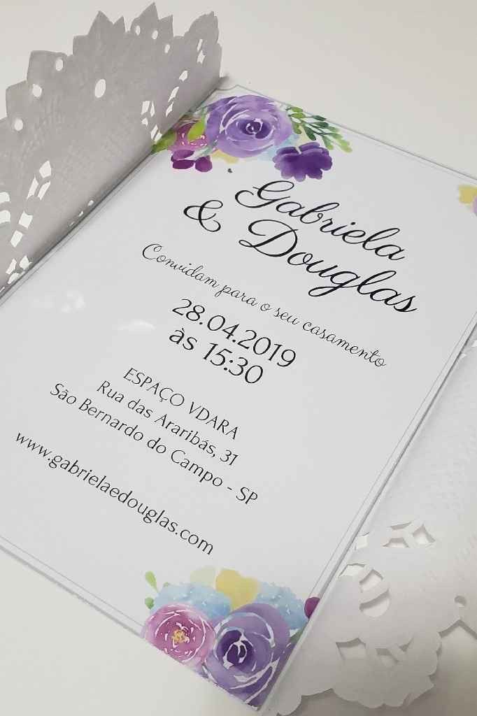 Convite feito por mim 😍😍 - 2