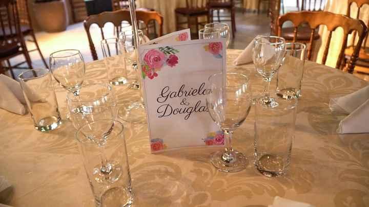 Cardápio na mesa dos convidados - 1