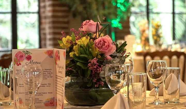 Cardápio na mesa dos convidados - 3