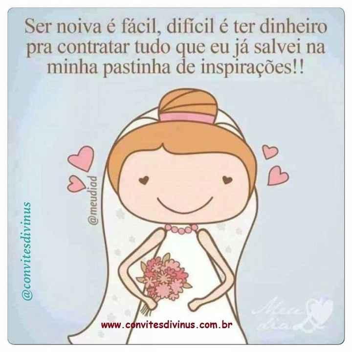 #ser noiva é isso - 1