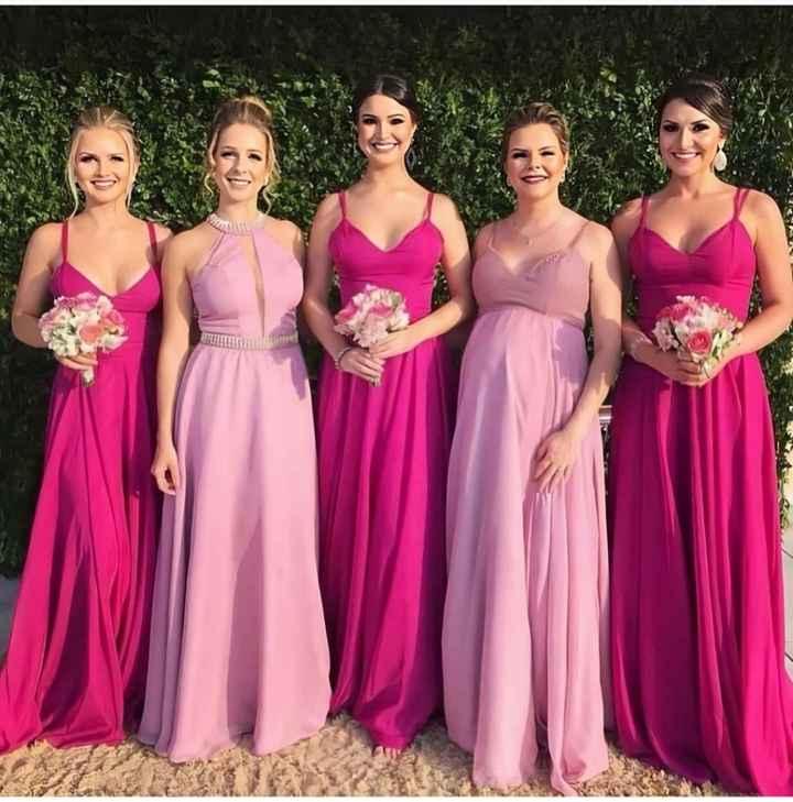 Madrinhas Pink e Rosinha