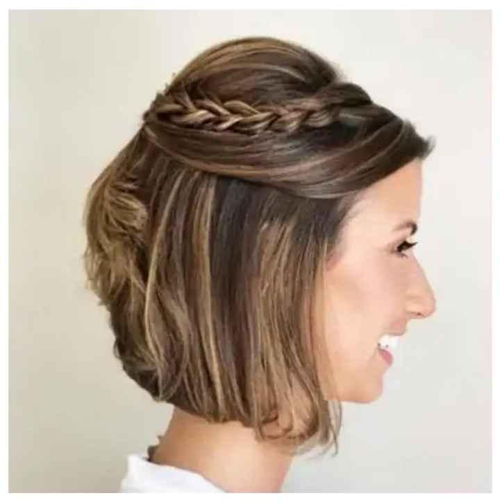 Penteado para cabelos curtos (inspirações) - 2