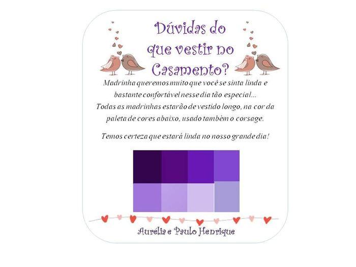 Manual de padrinhos(paleta de cores do lilás ao roxo) 4