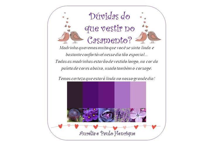 Manual de padrinhos(paleta de cores do lilás ao roxo) 6