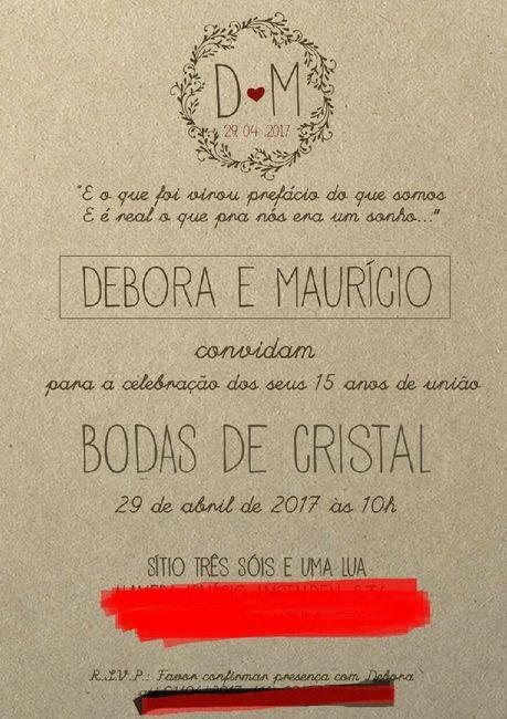 Top Nosso convite rústico * bodas de cristal GC82