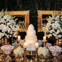 mesa do bolo branca