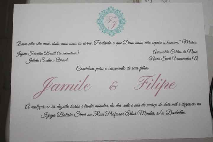 Convite impresso - teste