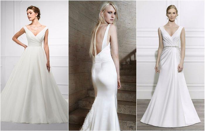 Resultado de imagem para vestidos minimalistas de noiva