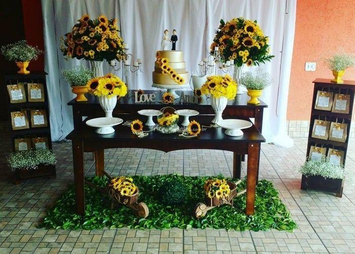 Decoraç u00e3o com flores#girassol -> Decoração De Festa De Aniversario Girassol
