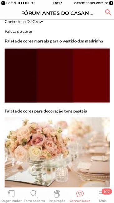 Paleta de cores - marsala