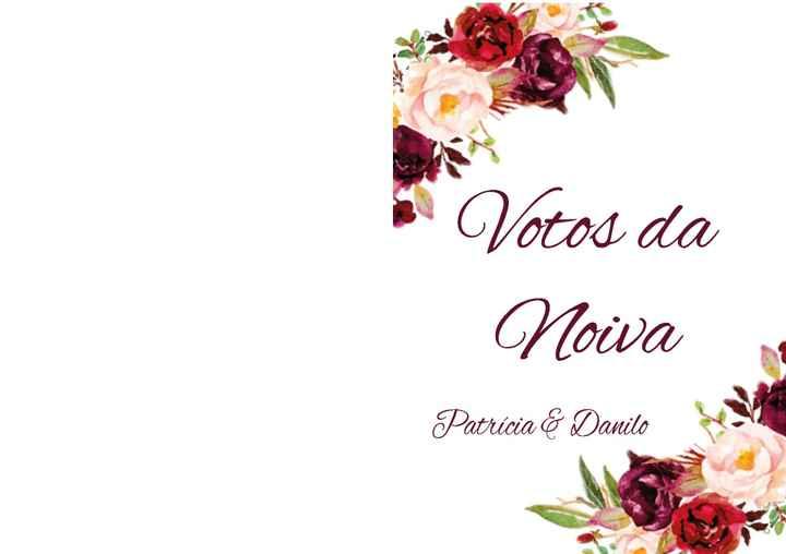 Caderno de Votos - 1