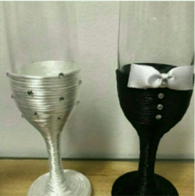 Taça para o brinde dos noivos ! - 1