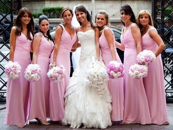 Vestido madrinha rosa palo