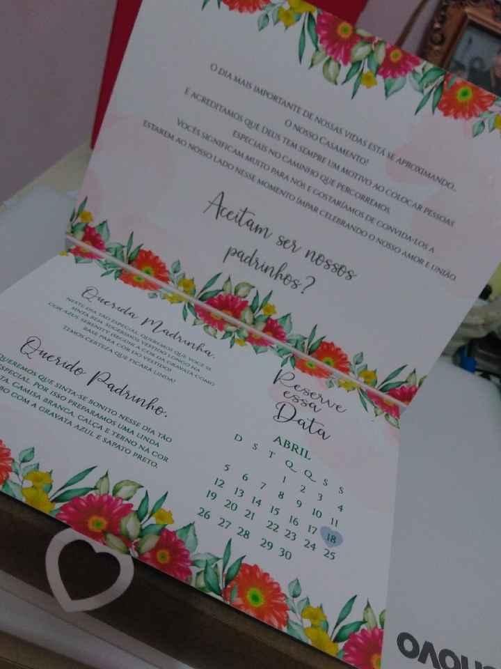Convite dos padrinhos - 2