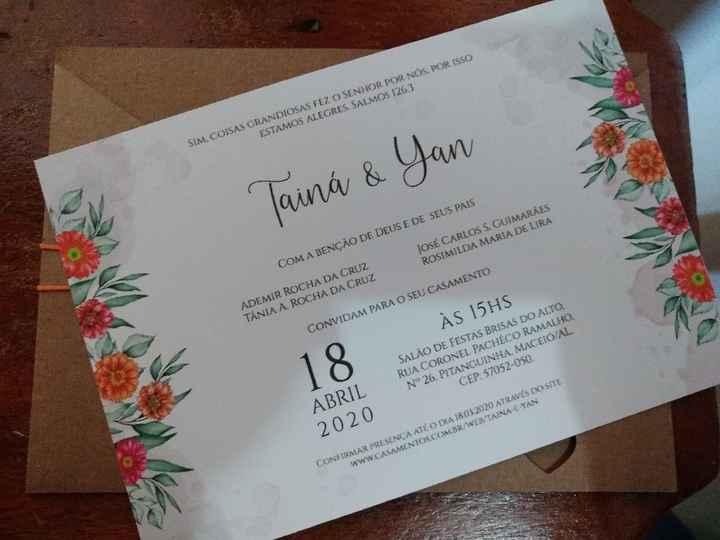 Convite de casamento e personalizados - 1