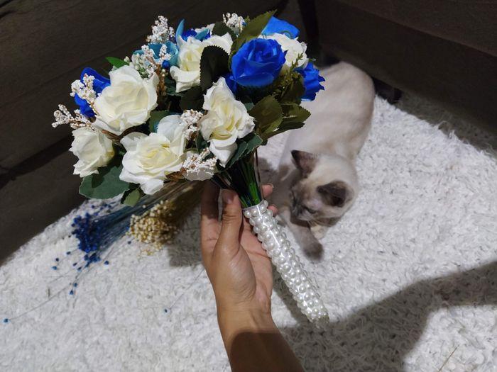 Buquê da noiva azul #diy 2