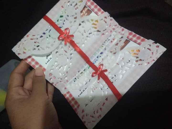 Envelope em papel rendado - 2