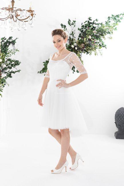 Vestido de noiva curto: qual dos dois? 1
