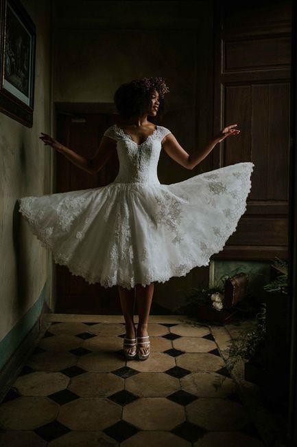 Vestido de noiva curto: qual dos dois? 2