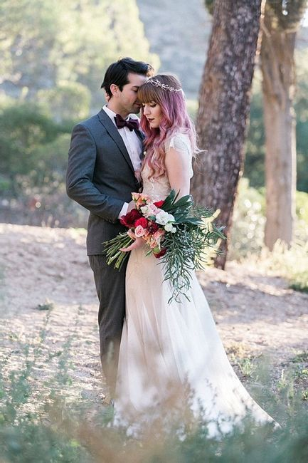 Noivas de cabelo tingido ou natural? #OutubroRosa 1