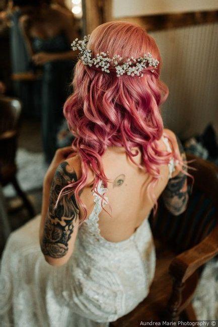 Noivas de cabelo tingido ou natural? #OutubroRosa 3