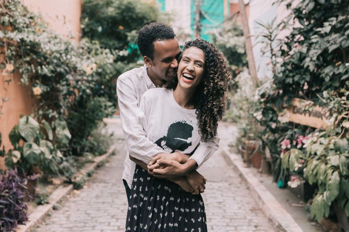 Ideia de foto divertida para pré-wedding: qual você salva? 1
