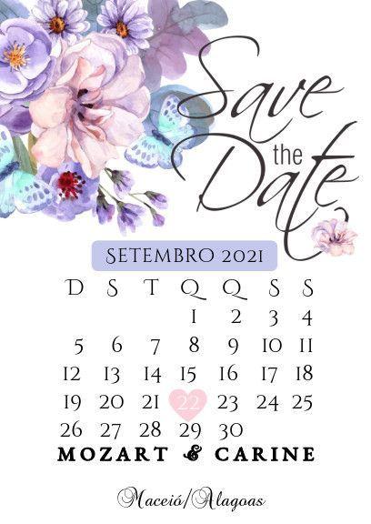 Se inspire com os Save the date de noivinhas da comunidade 💜 5