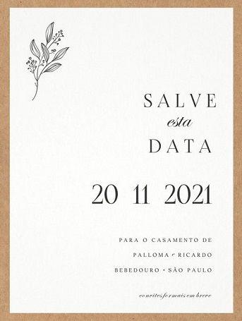Se inspire com os Save the date de noivinhas da comunidade 💜 4