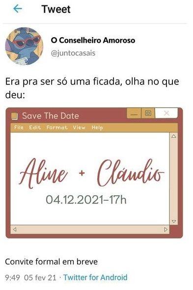 Se inspire com os Save the date de noivinhas da comunidade 💜 2
