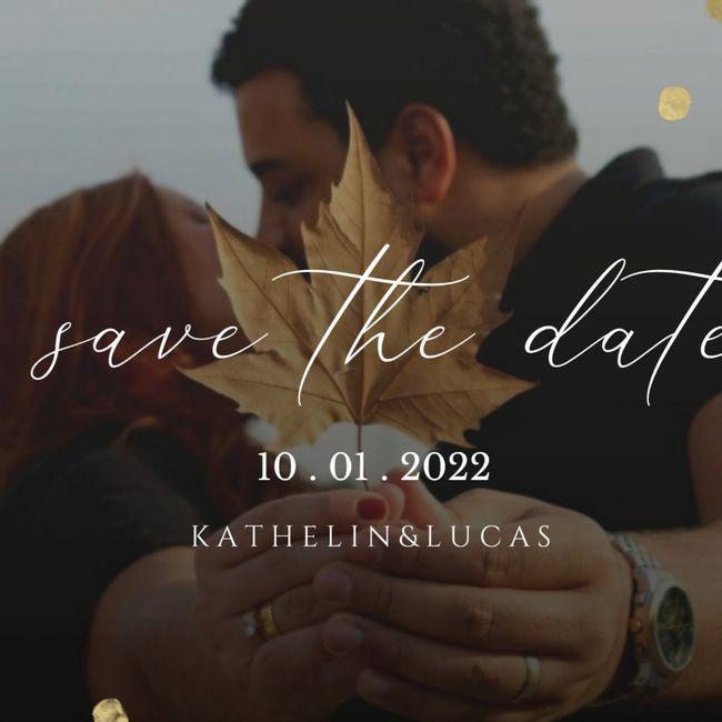 Se inspire com os Save the date de noivinhas da comunidade 💜 8