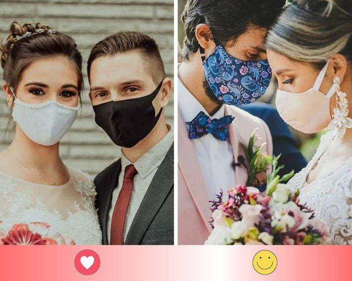 2 máscaras para noivos: escolha UMA 1