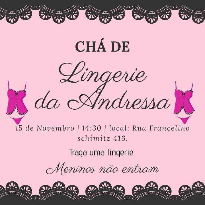 Convite digital chá de lingerie - 1